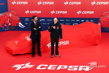 Franz Tost, Team Principal at the Scuderia Toro Rosso STR9 unveiling