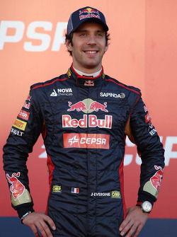 Jean-Eric Vergne, Scuderia Toro Rosso at the unveiling of the Scuderia Toro Rosso STR9