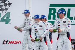 GTLM podium: Bill Auberlen, Andy Priaulx, Joey Hand, Maxime Martin