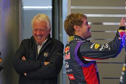 F1: Sebastian Vettel, Red Bull Racing with Charlie Whiting, FIA Delegate