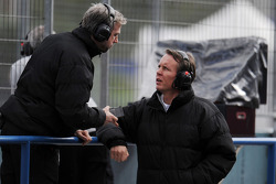 (L to R): Adam Cooper, McLaren Press Officer with Sam Michael, McLaren Sporting Director
