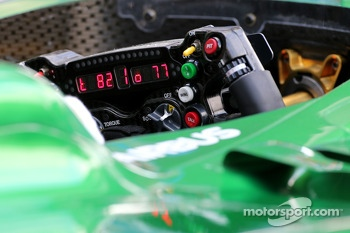 Steering wheels of Marcus Ericsson, Caterham F1 Team