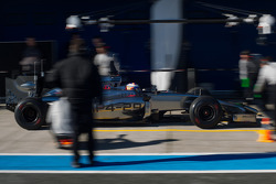 Jenson Button, McLaren MP4-29 in the pits