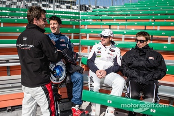 Champions photoshoot: Filipe Albuquerque, Mike Rockenfeller, Joey Hand and Jamie McMurray