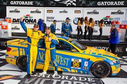 GS victory lane: race winners Bill Auberlen and Paul Dalla Lana celebrate