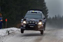Pontus Tideman and Ola Floene, Ford Fiesta WRC