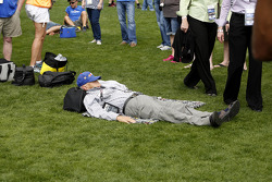 Fan on the grass