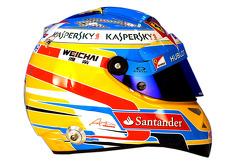 The helmet of Fernando Alonso, Ferrari