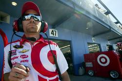A Ganassi Racing crew member