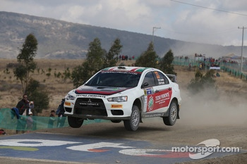 Massimiliano Rendina and Mario Pizzuti, Mitsubishi Lancer Evo X