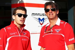 Jules Bianchi, Marussia F1 Team with Graeme Lowdon, Marussia F1 Team Chief Executive Officer