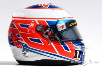 The helmet of Jenson Button, McLaren