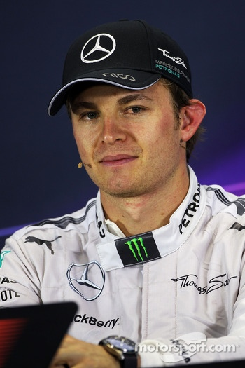 Race winner Nico Rosberg, Mercedes AMG F1 in the FIA Press Conference