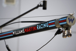 Williams logo on the pit stop equipment