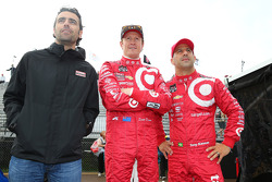 Dario Franchitti, Scott Dixon and Tony Kanaan