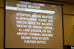 Severe weather advisory