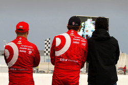 Tony Kanaan, Scott Dixon and Dario Franchitti