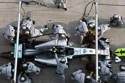 Nico Rosberg, Mercedes AMG F1 pit stop