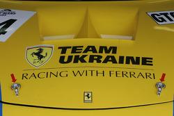 Team Ukraine Ferrari detail