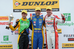 Round 2 Podium: 1st Andrew Jordan, 2nd Gordon Shedden, 3rd Colin Turkington