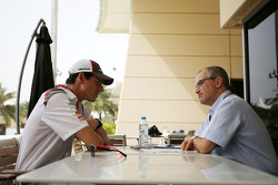 Adrian Sutil, Sauber F1 Team and Luis Vasconcelos, F1 Journalist