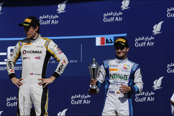 Race winner Jolyon Palmer, third place Julian Leal