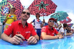James Thompson, Lada Granta 1.6T, LADA Sport Lukoil and Robert Huff, LADA Granta 1.6T, LADA Sport Lukoil