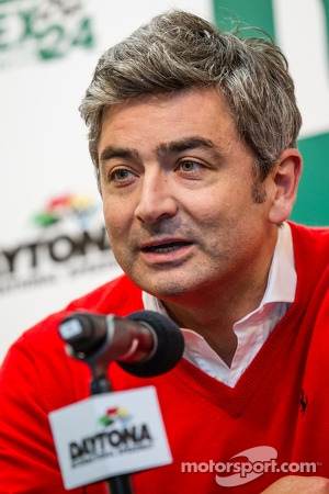 Ferrari North America press conference: President and CEO at Ferrari North America Marco Mattiacci