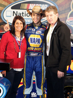 NASCAR-NS: Chase Elliott and his parents, Mr. and Mrs. Bill Elliott