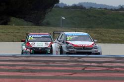 Mehdi Bennani, Honda Civic WTCC, Proteam Racing and Jose Maria Lopez, Citroën C-Elysée WTCC, Citroën Total WTCC