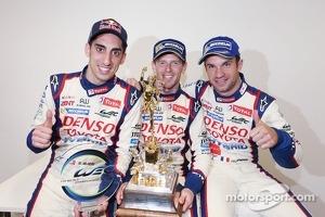Race winners Anthony Davidson, Nicolas Lapierre, Sebastien Buemi