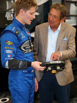 Josef Newgarden with American football legend Joe Namath