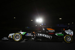 The Smirnoff liveried Sahara Force India F1 VJM07 is unveiled at the Smirnoff Launch Party at a karting circuit in Barcelona