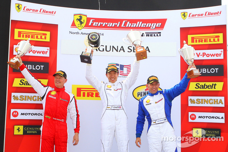 TP podium: race winner Harry Cheung, second place Ryan Ockey, third place Henrik Hedman