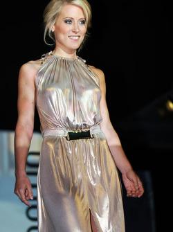 Jennifer Becks, girlfriend of Adrian Sutil, Sauber, at the Amber Lounge Fashion Show