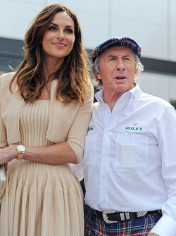 (L to R): Tasha de Vasconcelos, Model and Actress, with Jackie Stewart