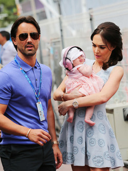 Tamara Ecclestone, with husband Jay Rutland, and their baby daughter Sophie