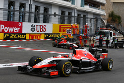 Jules Bianchi, Marussia F1 Team MR03 leads team mate Max Chilton, Marussia F1 Team MR03