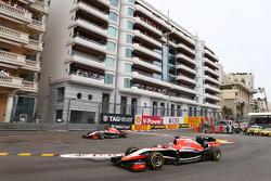 Jules Bianchi, Marussia F1 Team MR03 and team mate Max Chilton, Marussia F1 Team MR03, who runs wide