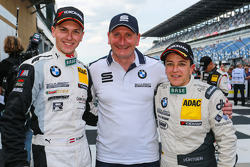 Race winners Dominik Baumann, Claudia Hurtgen with Thorsten Schubert