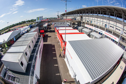 Le Mans paddock overview: Porsche Team paddock