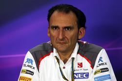 Giampaolo Dall'Ara, Sauber F1 Team Head of Track Engineering in the FIA Press Conference
