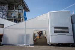 RAM Racing paddock area