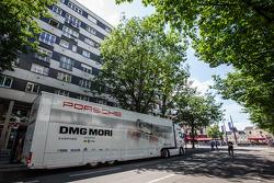 Porsche Team transporter