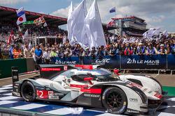 Race winning car #2 Audi Sport Team Joest Audi R18 E-Tron Quattro