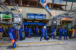 Signatech Alpine team members ready for a pit stop