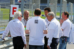 Charlie Whiting, FIA Delegate inspects the circuit