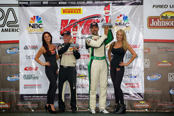 Saturday Race GT-A Class Winners Podium: Bill Ziegler (left) and Tim Pappas (right)