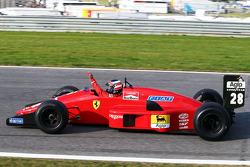Gerhard Berger, is reunited with his Ferrari F1/87