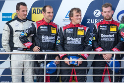 Podium: second place Lance David Arnold, Jeroen Bleekemolen, Andreas Simonsen, Christian Menzel